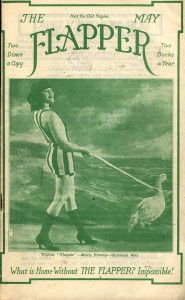 Marie as The Flapper Magazine's first cover girl