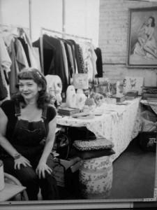 Me in my flea market stall