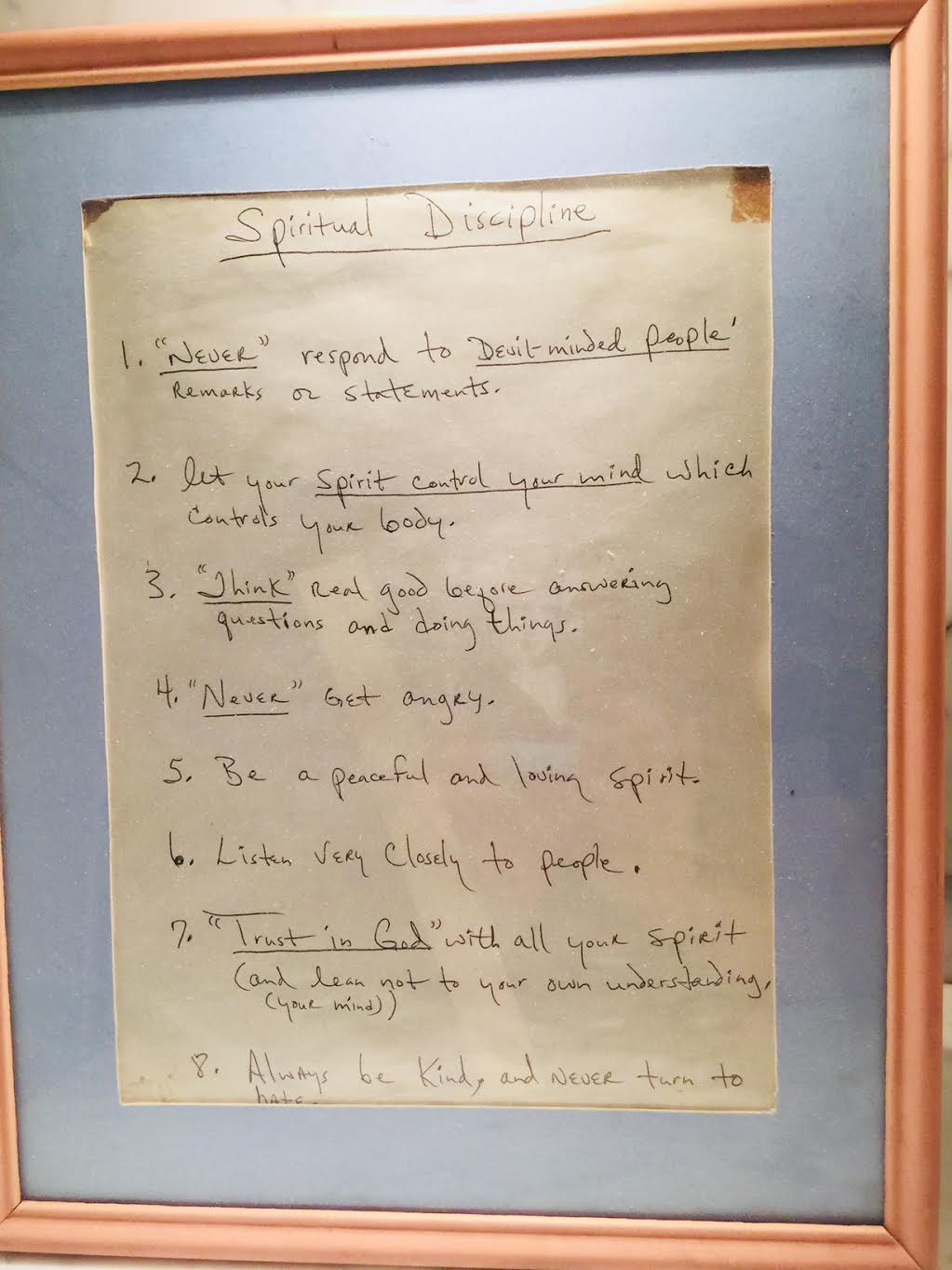 aretha Franklin spiritual discipline
