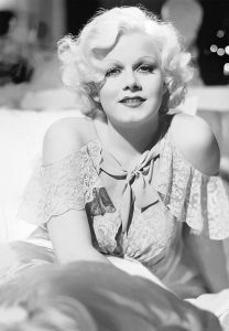 Jean Harlow in bed