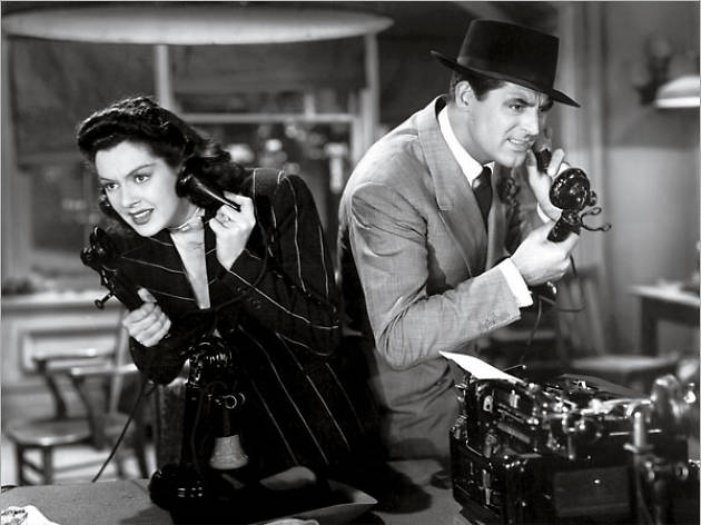 cary Grant and Rosalind Russell
